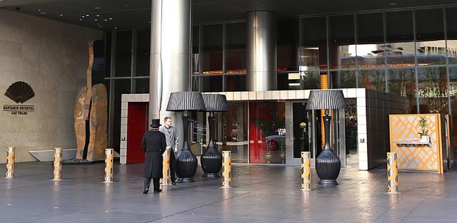 Entrance to Mandarin Oriental in Las Vegas on Wednesday, Feb. 1, 2017. (Bizuayehu Tesfaye/Las Vegas Review-Journal) @bizutesfaye