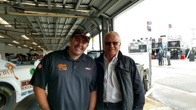 Brendan Gaughan, left, and team owner Mark Beard. (Courtesy photo)