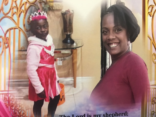 The program from a celebration of life for Diana Bankstown and her 8-year-old daughter, Kaysha Ray, who lost their lives in a Jan. 19 apartment fire. (Pashtana Usufzy/Las Vegas Review-Journal) @pa ...