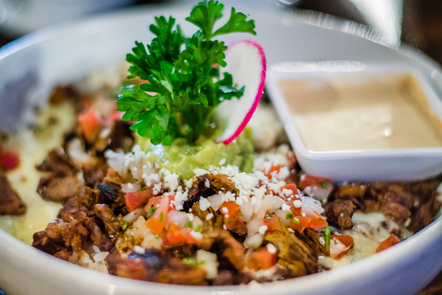 El Dorado Cantina, 3025 Sammy Davis Jr. Drive, serves a variety of Mexican food, including a beef taco bowl with rice, black beans, guacamole, pico de gallo and cheese. (Fernando Lopez/Special to  ...