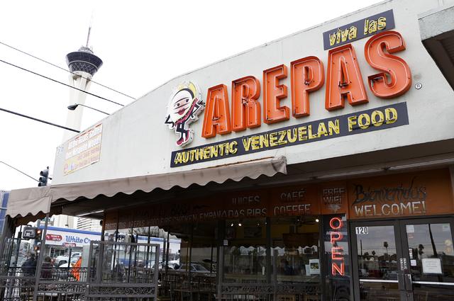Viva Las Arepas restaurant at 1616 S. Las Vegas Blvd. on Friday, Feb. 17, 2017, in Las Vegas. (Bizuayehu Tesfaye/Las Vegas Review-Journal) @bizutesfaye