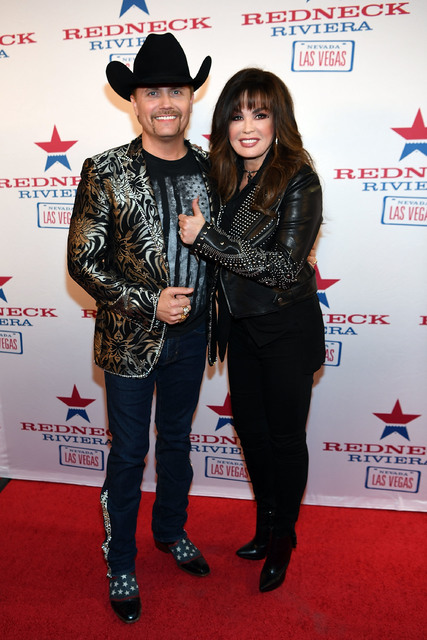LAS VEGAS, NV - FEBRUARY 16:  John Rich and Marie Osmond arrive at the Redneck Riveria VIP grand opening hosted by John Rich and friends on February 16, 2017 in Las Vegas, Nevada.  (Photo by Denis ...