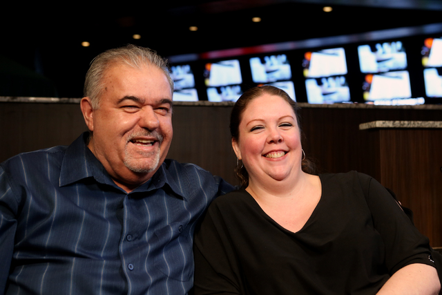 On Wednesday January 25, 2017, Tony and Shannon Vega, who have been married for five years, share the story of how they met while working at the Boulder Station Sports Book. (Michael Quine/Las Veg ...