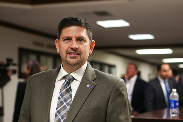 State Sen. Mark Manendo at the Legislative Building in Carson City. (Chase Stevens/Las Vegas Review-Journal) @csstevensphoto