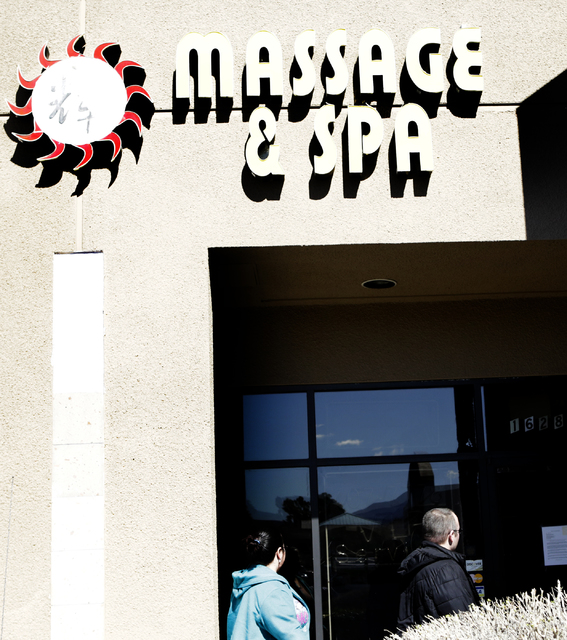 A decision to revoke the special-use permit for Sun Bright Massage & Spa, cited for multiple prostitution violations, was upheld Tuesday, Feb. 21, 2017, by the Henderson City Council. (Bizuaye ...