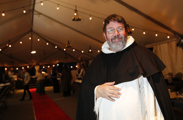 Father Daniel Rolland during a medieval feast at UNLV Catholic Newman Center in Las Vegas, Sunday, Jan. 29, 2017. (Chitose Suzuki/Las Vegas Review-Journal) @chitosephoto