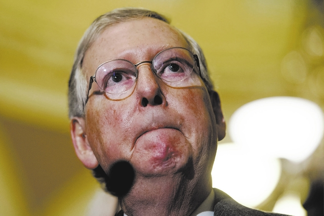 Senate Majority Leader Mitch McConnell. AP Photo/Cliff Owen, File