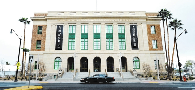 DAVID BECKER/LAS VEGAS REVIEW-JOURNAL The exterior of The Mob Museum - National Museum of Organized Crime and Law Enforcement on Monday, Feb. 13, 2012.  The museum opens to the public on Feb. 14.