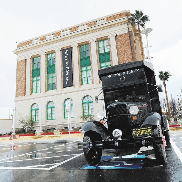 DAVID BECKER/LAS VEGAS REVIEW-JOURNAL The exterior of the new The Mob Museum - National Museum of Organized Crime and Law Enforcement on Monday, Feb. 13, 2012.  The museum opens to the public on F ...