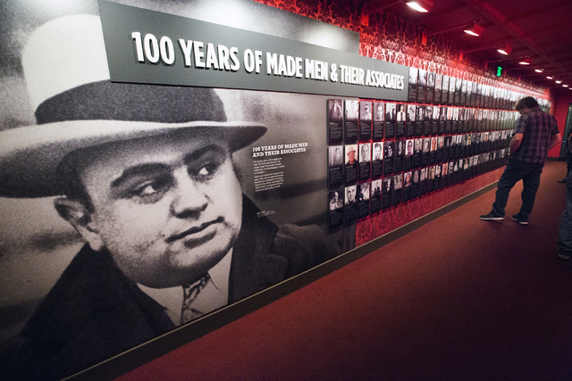 A man views a display at The Mob Museum, 300 Stewart Avenue, on Wednesday, March 9, 2016. (Jeff Scheid/Las Vegas Review-Journal) Follow @jlscheid