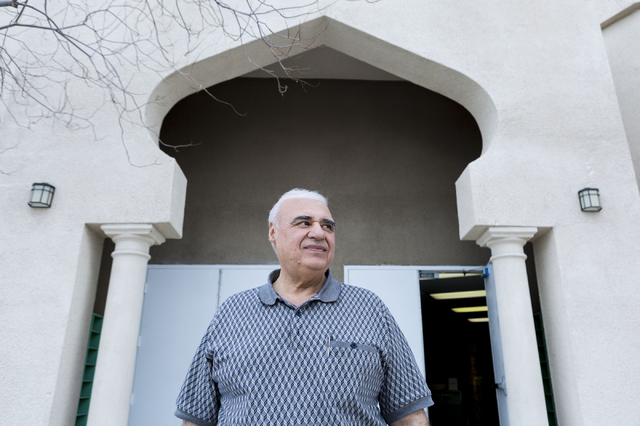 Reza Salimian, Iranian immigrant and a director of the Islamic Society of Nevada, discusses the security of the Islamic Society of Nevada mosque, located on Desert Inn Road and South Mountain Vist ...