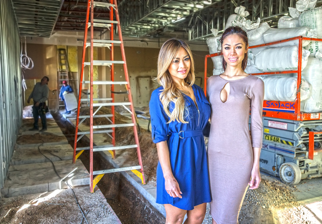 Jeanne Phatdoung, left and Kym Kieu at the future site of their 3,000-square-foot nail salon on Thursday, Jan. 26, 2017, in Las Vegas. The full service salon will offer manicures, pedicures, waxin ...