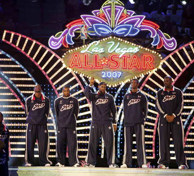 NBA Eastern Conference starting players are introduced during the All-Star basketball game at the Thomas and Mack Center in Las Vegas on Sunday, Feb. 18, 2007 . (John Gurzinski/Las Vegas Review-Jo ...