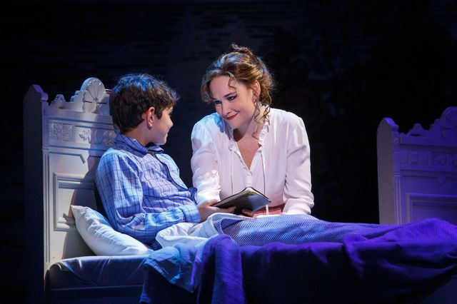 """Young Peter (Ben Krieger) and his mother (Christine Dyer) share a tender moment in """"Finding Neverland."""" The musical adaptation of the Oscar-winning 2004 movie opens Tuesday at The Smith Center ..."""