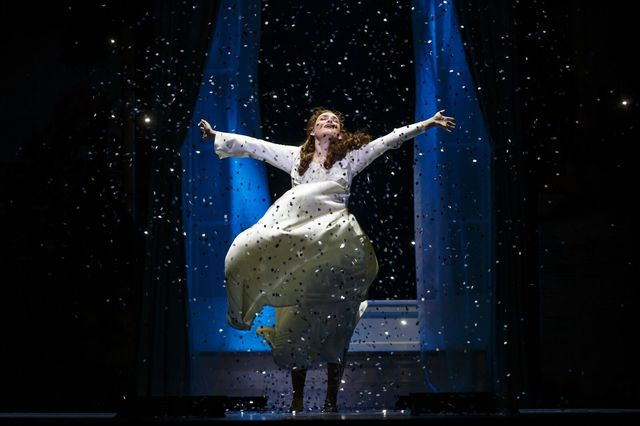 """Sylvia Llewellyn Davies (Christine Dyer) discovers the power of pixie dust in the national tour of """"Finding Neverland,"""" opening Tuesday at The Smith Center. (Carol Rosegg/Smith Center for the  ..."""