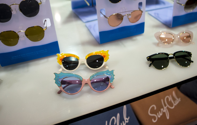 Sunglasses from Crap Eyewear on display at the Off Price Expo at the Sands Expo and Convention Center in Las Vegas on Monday, Feb. 20, 2017. (Miranda Alam/Las Vegas Review-Journal) @miranda_alam