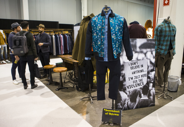 The Descendant of Thieves booth at the Off Price Expo at the Sands Expo and Convention Center in Las Vegas on Monday, Feb. 20, 2017. (Miranda Alam/Las Vegas Review-Journal) @miranda_alam