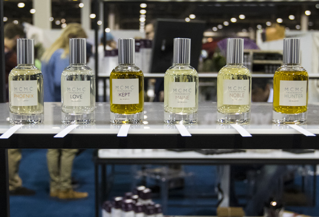 MCMC Fragrances at the Off Price Expo at the Sands Expo and Convention Center in Las Vegas on Monday, Feb. 20, 2017. (Miranda Alam/Las Vegas Review-Journal) @miranda_alam