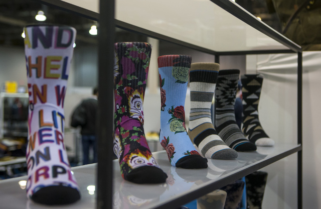 Socks from Stance on display at the Off Price Expo at the Sands Expo and Convention Center in Las Vegas on Monday, Feb. 20, 2017. (Miranda Alam/Las Vegas Review-Journal) @miranda_alam