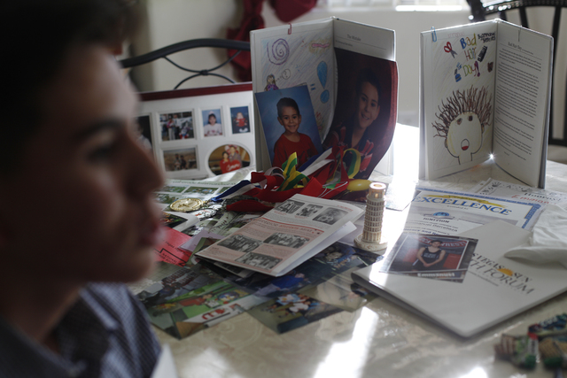 Emmanuel Berrelleza, 17, talks to the Review-Journal in front of his awards and photos at his home on Wednesday, Feb. 9, 2017, in Las Vegas. (Rachel Aston/Las Vegas Review-Journal) @rookie__rae