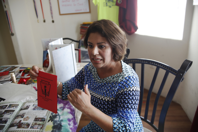 Jacqueline Berrelleza talks about her son Emmanuel Berrelleza and his accomplishments to the Review-Journal at their home on Wednesday, Feb. 9, 2017, in Las Vegas. (Rachel Aston/Las Vegas Review-J ...