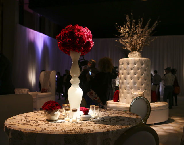 Table decorations during a media preview for the 89th Academy Awards' Governors Ball in Hollywood, Calif. on Thursday, Feb. 16, 2017. (Chase Stevens/Las Vegas Review-Journal) @csstevensphoto