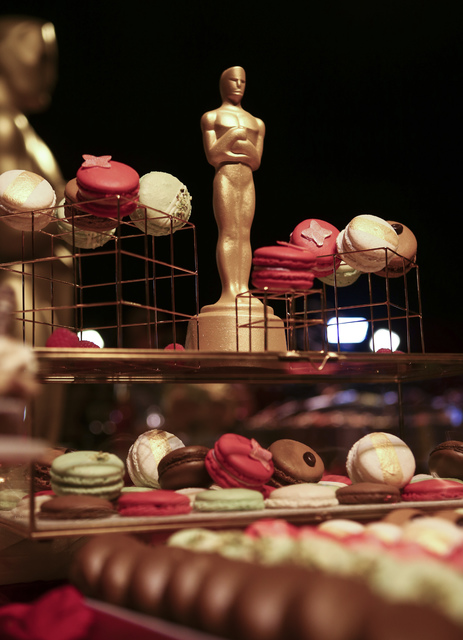 Desserts prepared by Wolfgang Puck Catering during a media preview for the 89th Academy Awards' Governors Ball in Hollywood, Calif. on Thursday, Feb. 16, 2017. (Chase Stevens/Las Vegas Review-Jour ...