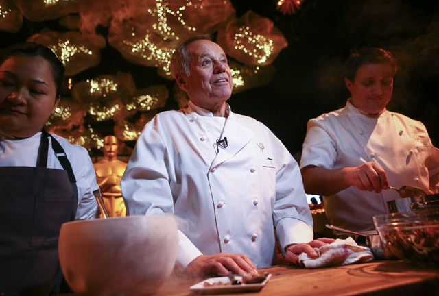 Chef Wolfgang Puck during a media preview for the 89th Academy Awards' Governors Ball in Hollywood, Calif. on Thursday, Feb. 16, 2017. (Chase Stevens/Las Vegas Review-Journal) @csstevensphoto