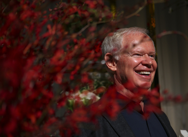 Celebrity florist Mark Held of Mark's Garden during a media preview for the 89th Academy Awards' Governors Ball in Hollywood, Calif. on Thursday, Feb. 16, 2017. (Chase Stevens/Las Vegas Review-Jou ...