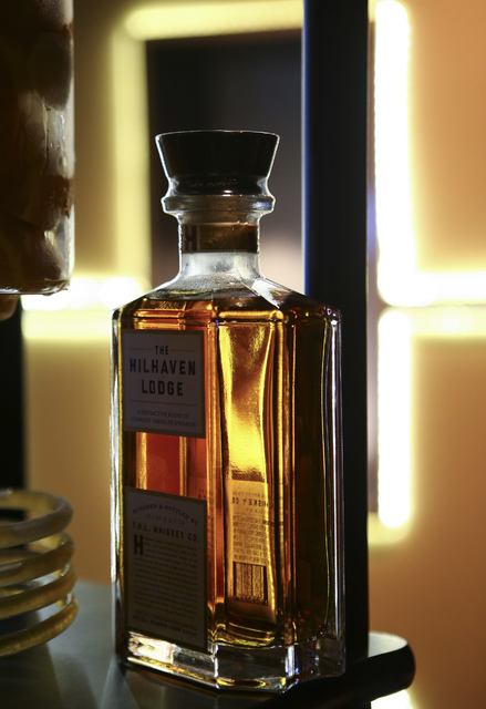 The Hilhaven Lodge whiskey during a media preview for the 89th Academy Awards' Governors Ball in Hollywood, Calif. on Thursday, Feb. 16, 2017. (Chase Stevens/Las Vegas Review-Journal) @csstevensphoto