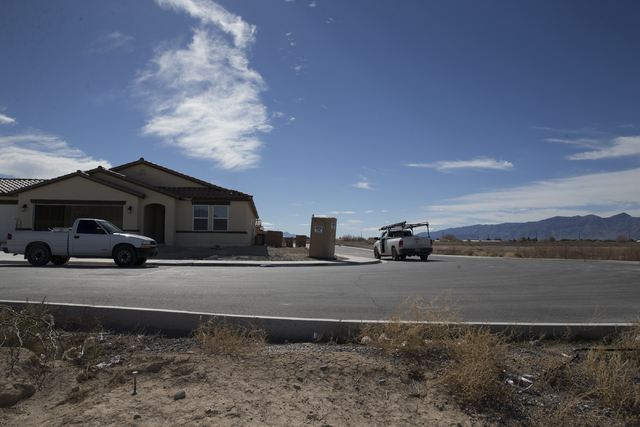 An unfinished Burson Ranch community by Beazer Homes, Thursday, Feb. 16, 2017, in Pahrump, Nev. (Erik Verduzco/Las Vegas Review-Journal) @Erik_Verduzco