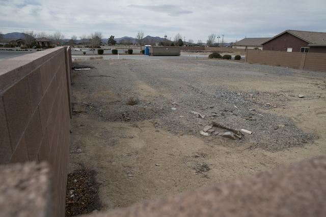 An unfinished Cottage Groves Estates community lot, Thursday, Feb. 16, 2017, in Pahrump, Nev. (Erik Verduzco/Las Vegas Review-Journal) @Erik_Verduzco