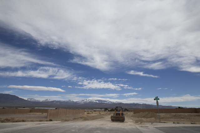 An unfinished Cottage Groves Estates community, Thursday, Feb. 16, 2017, in Pahrump, Nev. (Erik Verduzco/Las Vegas Review-Journal) @Erik_Verduzco