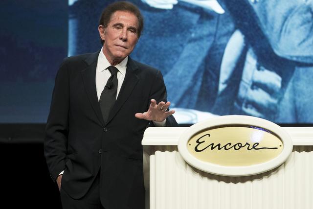 Steve Wynn, CEO of Wynn Resorts, speaks during the E. Parry Thomas memorial celebration on Sept. 6, 2016, in Las Vegas. (Erik Verduzco/Las Vegas Review-Journal) @Erik_Verduzco