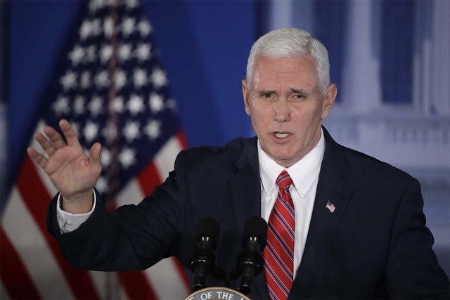 Vice President Mike Pence will be in Las Vegas Friday, speaking at the Republican Jewish Coalition's annual meeting. (Matt Rourke/AP)