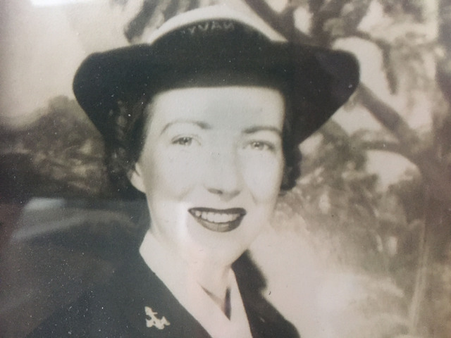 This undated photo from the 1940s shows Irene Miller in her Navy uniform.  Courtesy Irene Miller