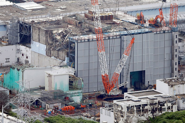 An aerial view shows the No.3 reactor building at Tokyo Electric Power Co. (TEPCO)'s tsunami-crippled Fukushima Daiichi nuclear power plant in Fukushima Prefecture, in this photo taken by July 18, ...