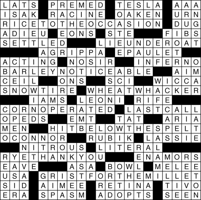 View's puzzles solutions for Feb. 9, 2017