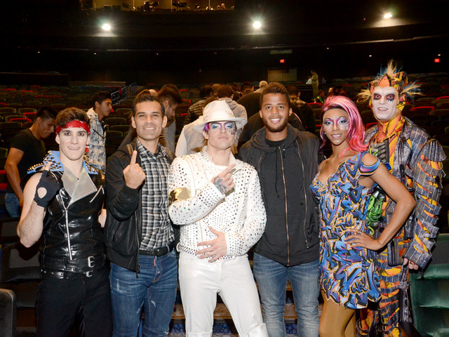 "Rafa Marquez and Gio Dos Santos attend Cirque du Soleil's ""Michael Jackson One"" at Mandalay Bay on Tuesday, Feb. 7, 2017, in Las Vegas. (Cirque du Soleil)"