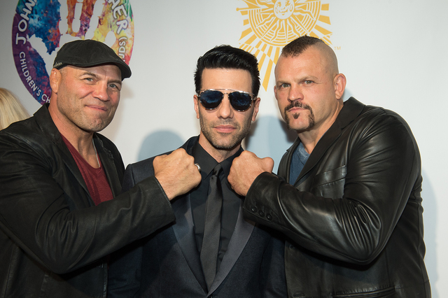 Randy Couture, Criss Angel and Chuck Liddell attend Heal Every Life Possible on Monday, Sept. 12, 2016, at The Luxor. (Tom Donoghue)
