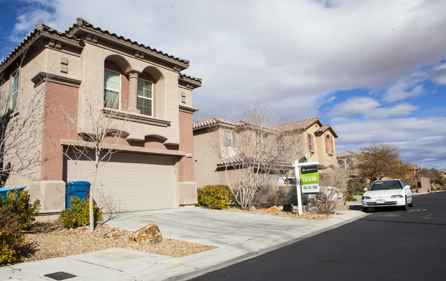 A home listed for rent by Invitation Homes at 9330 Weeping Water Ave. in Las Vegas on Friday, Feb. 3, 2017. (Miranda Alam/Las Vegas Review-Journal) @miranda_alam