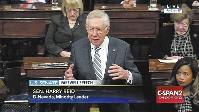 Harry Reid. C-SPAN2 via AP
