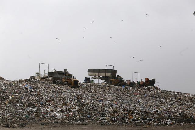 Waste at the Apex Regional Landfill on Friday, Jan. 20, 2017, in Las Vegas. (Christian K. Lee/Las Vegas Review-Journal) @chrisklee_jpeg