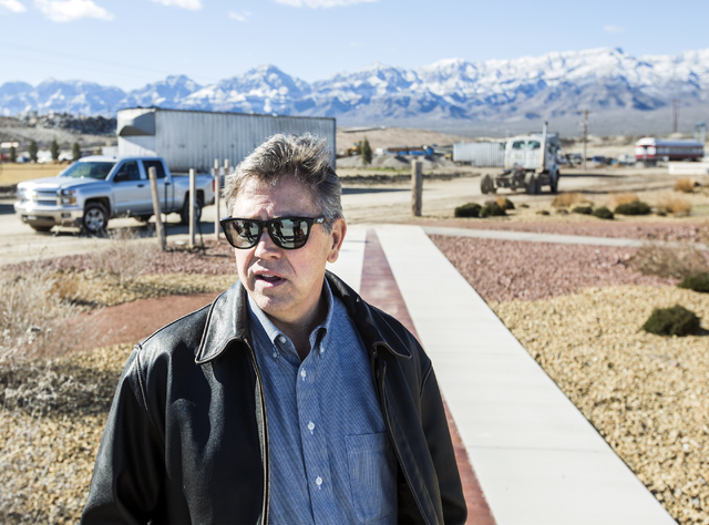 Scott Seastrand, VP at Western Elite, discusses the Western Elite Ranch operations near U.S. 93 Highway about 60 miles north of Las Vegas on Wednesday, Jan. 25, 2017. (Jeff Scheid/Las Vegas Review ...