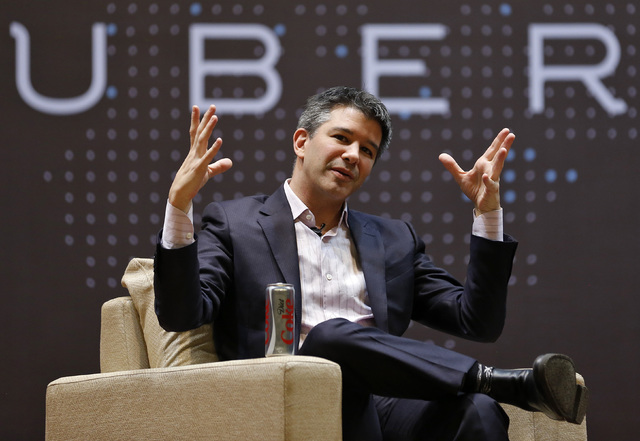 Uber CEO Travis Kalanick speaks to students during an interaction at the Indian Institute of Technology (IIT) campus in Mumbai, India, January 19, 2016. (REUTERS/Danish Siddiqui)