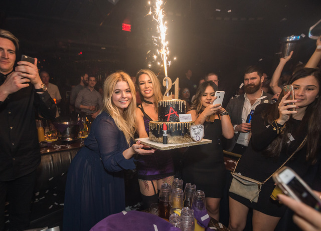 Sasha Pieterse celebrates her 21st birthday at Marquee in The Cosmopolitan of Las Vegas on Saturday, Feb. 18, 2017. (Andrew Dang/Tony Tran Photography)