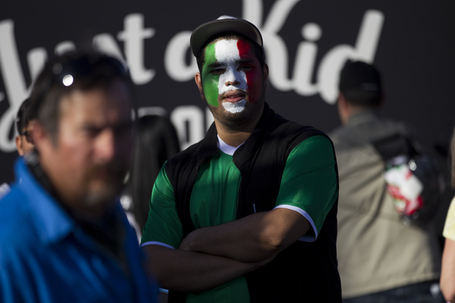 Jesus Salazar of Las Vegas attends the men's soccer game between the national teams of Mexico and Iceland at Sam Boyd Stadium on Wednesday, Feb. 8, 2017, in Las Vegas. (Erik Verduzco/Las Vegas Rev ...