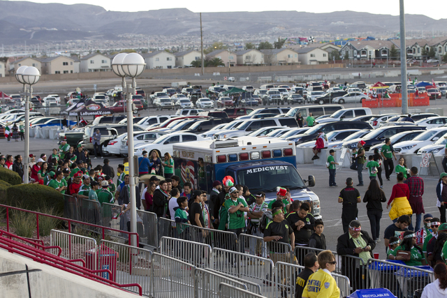 Fans attend the men's soccer game between the national teams of Mexico and Iceland at Sam Boyd Stadium on Wednesday, Feb. 8, 2017, in Las Vegas. (Erik Verduzco/Las Vegas Review-Journal) @Erik_Verduzco