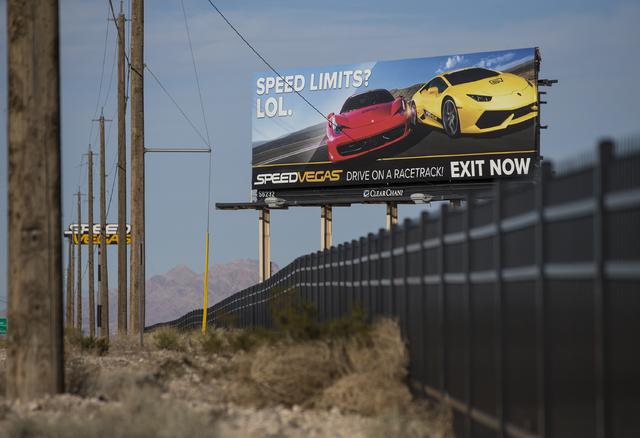 SpeedVegas remains closed as investigators work to determine what caused a Lamborghini Gallardo to crash on Sunday killing both occupants. Photo taken on Monday, Feb. 13, 2017, at SpeedVegas, in S ...