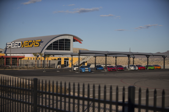SpeedVegas opened again today since a fiery crash killed two people Feb. 12, Thursday, Feb. 23, 2017, in Las Vegas. (Erik Verduzco/Las Vegas Review-Journal) @Erik_Verduzco